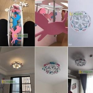 新トロイの木馬LEDシーリングライト男の子と女の子プリンセス子供部屋のランプ寝室の照明器具クリエイティブ漫画の照明