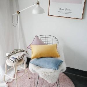 ノーブルベレットプリントクッションカバーデザイナー高級装飾枕ケースalmofadas cojinesソファソリッドブルーイエローカーカバー
