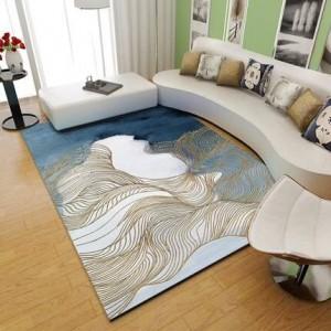 北欧カーペットのリビングルーム現代のシンプルなティーテーブルカーペットカスタマイズされたネット赤の寝室の部屋いっぱいのカーペット