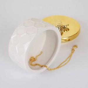 北欧セラミックジュエリーボックスゴールデン収納タンクシンプルな王女の装飾的な装飾品結婚指輪装身具箱イヤリング収納ボックス