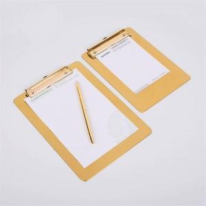 北欧メタルゴールドオフィステーブル収納トレイ付きクリップスカンジナビア流行オフィスファイルノートデスク収納パッドオーガナイザー装飾