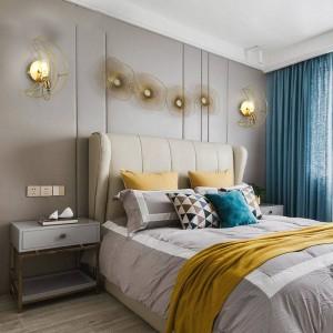 北欧モダンクリエイティブパーソナリティリアル真鍮ムーンウォールランプ子供部屋ホワイエ寝室フル銅壁掛けライトE27 90-260ボルト