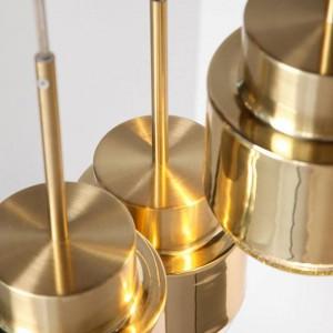 北欧ポストモダンシンプルバーペンダントライトレストラン寝室のベッドサイドゴールドアイアンアートクリエイティブデンマークシングルヘッドLEDドロップライト