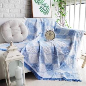 北欧のロマンチックなジオメトリ投球毛布ソファ装飾的なスリップカバーカラフルなCobertorソファ/ベッドチェック柄滑り止めステッチ毛布