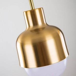 北欧シンプルなクリエイティブファッションダイニングルームバーペンダントライト現代研究リアル銅ベッドサイドledつりランプE27照明器具