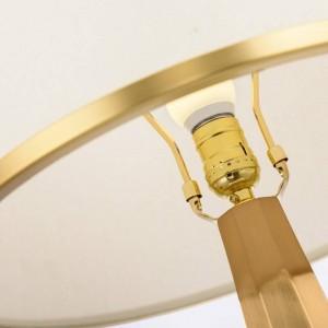 北欧研究LEDテーブルランプポストモダンアメリカン大理石クリエイティブリビングルームベッドルームベッドサイドクロスアートLED E27電球デスクライト