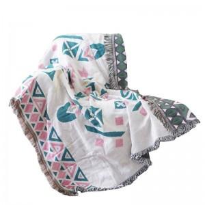 北欧投球毛布スレッドソファカバー幾何学的防塵カバースリップカバーコバートロール毛布ベッド用タッセルクリスマス