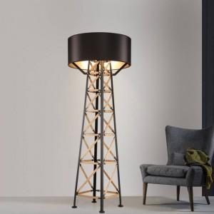 北欧タワーフロアライトポストモダンスタンディングライトリビングルームモダンフロアホテル照明ベッドサイドファッションフロアランプE27電球