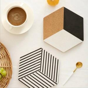 北欧木製テーブル収納トレイシックなスカンジナビア絶縁パッド流行エレガントな高級オフィスデスク収納プレートオーガナイザーの装飾
