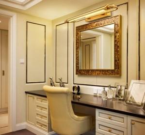 北ヨーロッパ銅LEDウォールランプミラーフロントランプレストラン寝室研究トイレの装飾LED照明器具