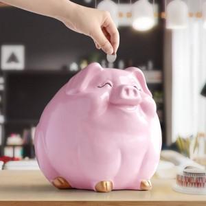 子供のための豚の貯金箱ギフト樹脂動物像ケースコインバンクボックスクリエイティブ楽しい豚の貯金箱子供のためのかわいい貯金箱