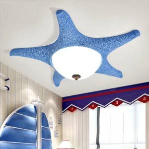 ピンクledヒトデランプ天井備品用子供子供の寝室ledガラス天井ランプドレッシングルーム表面ライト
