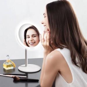 ピンク化粧鏡デスクトップledランプデスクトップスマートフィルライトホーム折りたたみポータブルドミトリーミラーmx12261555