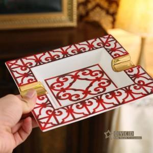 磁器灰皿骨赤特徴長方形の長方形の形の家の装飾用品の贈り物デザイン概要
