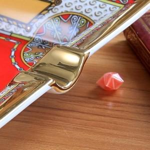 磁器灰皿骨神馬デザイン赤い色のアウトラインゴールド長方形長方形灰皿タバコ灰皿ビジネスギフト