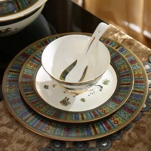 金58ピース食器セットディナーセットコーヒーセット結婚式の贈り物で磁器食器セット骨神馬のデザインの概要