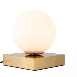 ポスト現代のledテーブルライトe14ランプクリエイティブホワイトガラスランプシェードテーブルランプシンプルライトオフィスランプ人格装飾