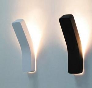 ポストモダンプロジェクションウォールランプブラックホワイトシンプルクリエイティブベッドサイドデコレーションライトリビングルームの廊下の壁ライト