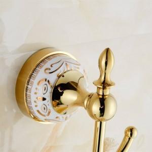 実用フック浴室付属品デザイナーヨーロッパクローム/ゴールデンローブフック、洋服フック、コートフック浴室浴室9086K