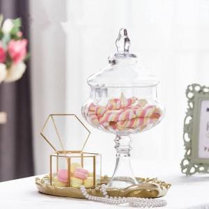 カボチャガラス瓶高品質キャンディー瓶フード付き蓋収納タンクボトル容器花瓶結婚式パーティークリエイティブ缶装飾品