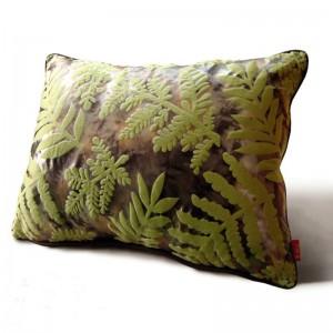 熱帯雨林の葉3dクッションカバーグリーンCapa de Almofadaでプリントぼろぼろのシックな家の装飾飾るコジーン、カスタムサイズ