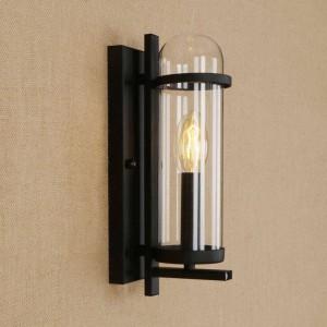 Rhクリエイティブガラスアイアンウォールランプ現代農村牧歌的スタイル照明器具用レストランカフェ通路リビングルームデコ壁ランプ