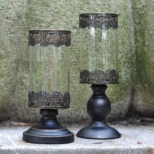 ロマンチックなキャンドルライトディナーキャンドルホルダーナイトライトメタルアイアンアート/ガラス燭台フラワーポットパーティーカフェ装飾工芸品