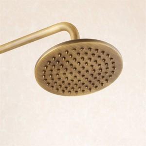 シャワー蛇口アンティーク真鍮シャワーセット蛇口浴槽ミキサータップハンドヘルドシャワー壁掛け式降雨風呂クレーンシャワーLAD-6821