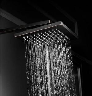 シャワー蛇口真鍮黒バスタブ蛇口スクエアチューブシングルハンドルトップレインシャワー付きスライドバー壁水ミキサータップXT347