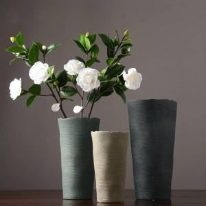 シンプルなセラミック花瓶ヨーロッパクリエイティブリビングルーム乾燥装置北欧家の装飾