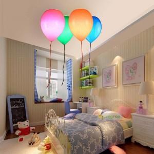 シンプルな子供部屋ライト、風船天井灯寝室の男の子と女の子の研究クリエイティブレストランLEDシーリングランプ