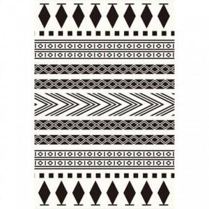 シンプルでモダンな黒と白の北欧の幾何学的なカーペットのリビングルームのコーヒーテーブルの寝室フルショップ大窓畳マットカスタム