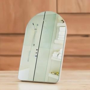 シンプルな木製化粧鏡ポータブルドミトリーミラーホームデスクトップまたは壁掛け王女化粧品ミラー用女の子mx01111351
