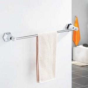 シングルタオルバーブラックカラー壁掛けタオル掛けタオル掛けタオルハンガーバスルームアクセサリー風呂ハードウェア93010
