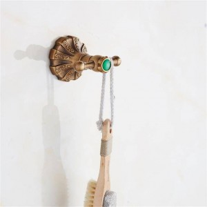 ソリッドブラス伝統的な服ハンガー彫刻アンティークブロンズ浴室帽子タオルフックハンガーウォールマウント9081K