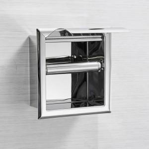 ステンレス鋼304トイレットペーパーホルダークローム壁掛け隠し浴室ロール紙箱ポルタpapel Higienico LAD-18030