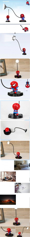 スーパースパイダーマンアベンジャーズユニオン3 ledナイトライトレジンクラフトキッズホームデスクトップの卓上スタンド置物誕生日クリスマスウェディングギフト