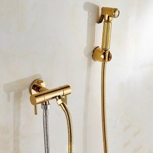 トイレビデアングル銅シングル冷たい浴室トイレシャワーブロースプレーガンノズルビデ蛇口浴室ハードウェア8075