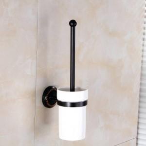 トイレブラシホルダーセラミックカップアンティーク真鍮トイレ便器ホームデコ壁のバスルームアクセサリートイレブラシホルダー9149K