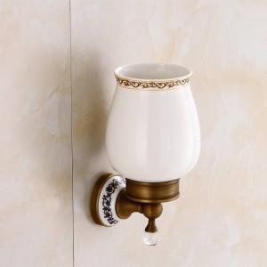 トイレ用ブラシホルダーウォールマウントバスルーム製品真鍮&クリスタルのバスルームデコレーションアクセサリーバスルームアクセサリー9219K