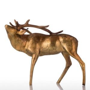 風水置物ゴールデン銅バックブロンズクラフトシニー外観動物バック彫刻装飾インテリアギフト用ホームガーデン