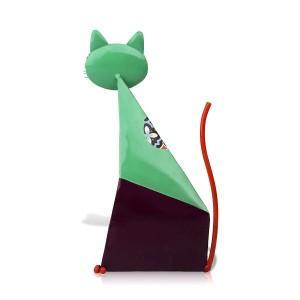 フォーチュン猫の置物ミニチュア金属動物の置物家の装飾牧歌的なカラフルなアート像クラフトギフト用家