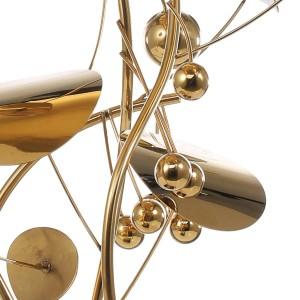 フルーツ彫刻現代スタイルの家の装飾置物ステンレス鋼像要約のためのオフィスホームデコレーションアクセサリー
