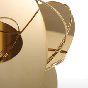 ゴールデンミラー現代の置物家の装飾抽象工芸品飾り金属彫刻インテリア家の装飾アクセサリー