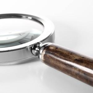 シルバー鹿ヘッド付き拡大鏡金属フレーム読書ツール研究室デスク装飾実用的なツール拡大鏡家の装飾