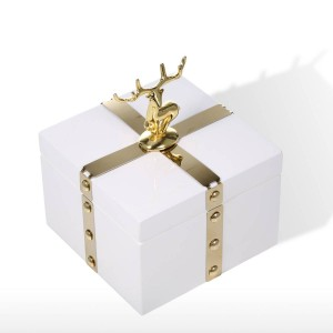 トゥーツスクエアジュエリーボックス収納ケース木製ホワイトリングネックレス収納ボックス誕生日プレゼント用女性ブラックベルベットギフトボックス