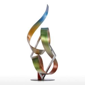 像広場とリボン現代彫刻抽象彫刻金属彫刻屋内 - 屋外家の装飾アクセサリー