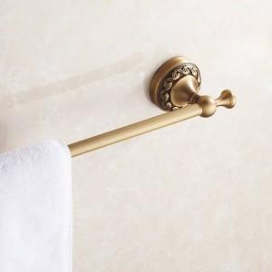 タオルバー60センチシングルレール真鍮アンティークタオルホルダー風呂棚タオルハンガー壁掛けバスルームアクセサリータオルラック3710