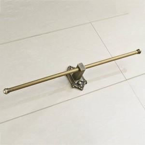 タオルバーシングルレールアンティーク真鍮ウォールシェルフタオルホルダータオルハンガー風呂棚バスルームアクセサリータオルラックLAD-71221