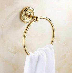 タオルリングアンティーク真鍮ウォールマウントラックタオルホルダー風呂棚タオルハンガー収納浴室付属品タオルバー9141K